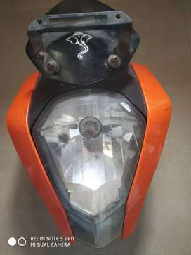 Ktm headlights face and meter and handale grip