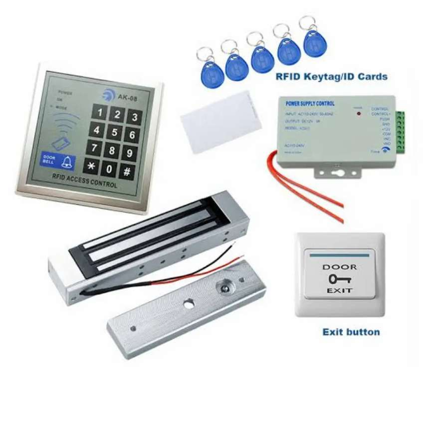 Rfid Cards & Password Access Control Electric Door lock System