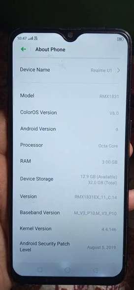 Folder change but sahi chal raha hai, Realme U1 3/32GB