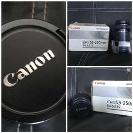 Lensa Canon EF-S 55MM-250MM(Focal Length)