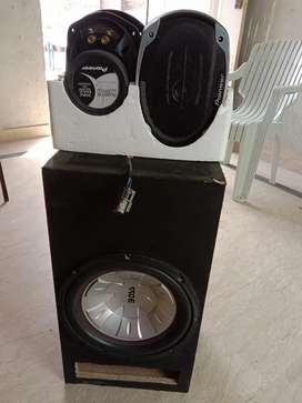 Boss Woofer and Pioneer Speakers
