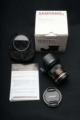 Samyang 12m F2 UMC for Canon EFm