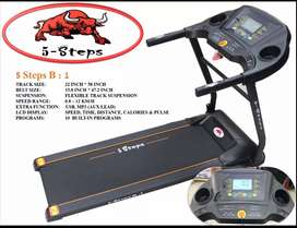 5 STEPS B1 - Motorized Treadmill - 3.0HP - Black