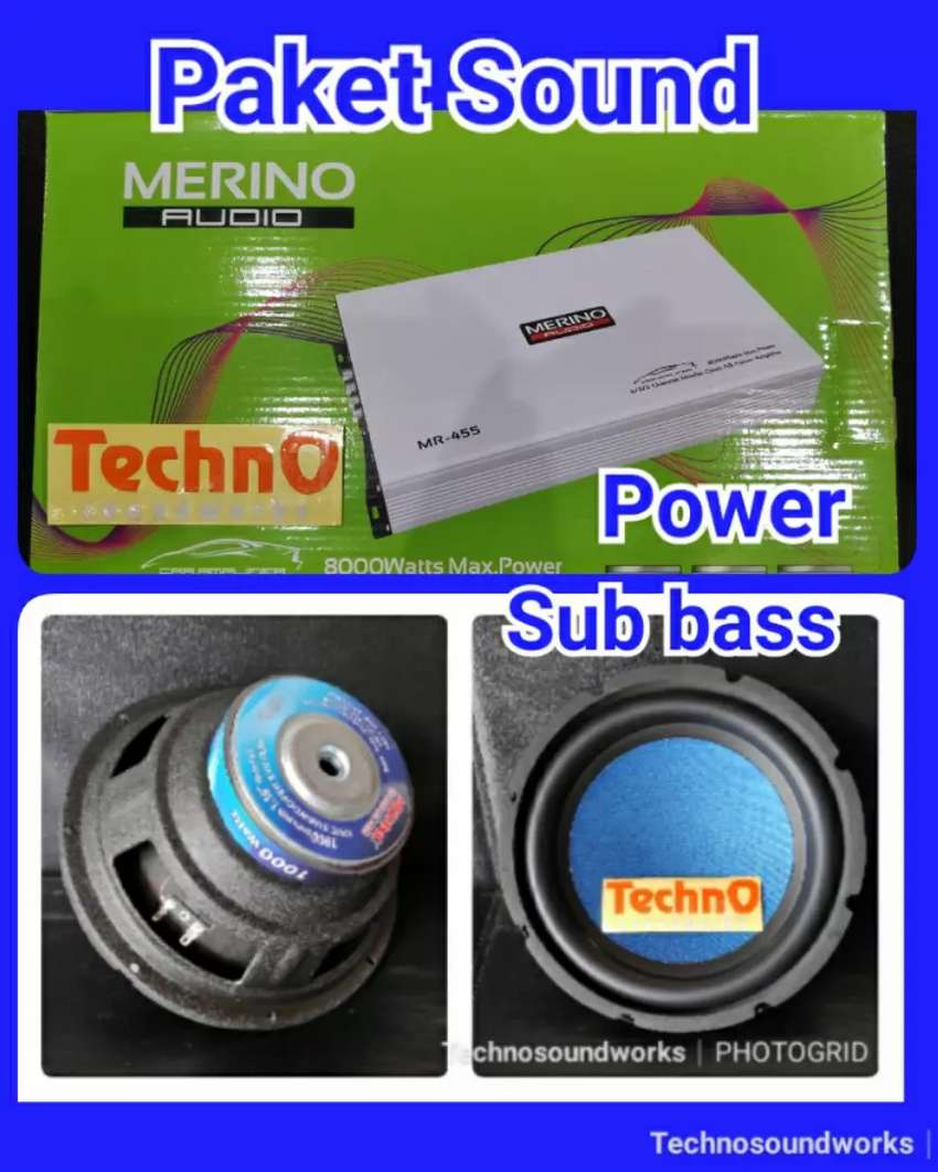Paket sound audio komplit power sub harga blm pasang ( for tv mobil ) 0