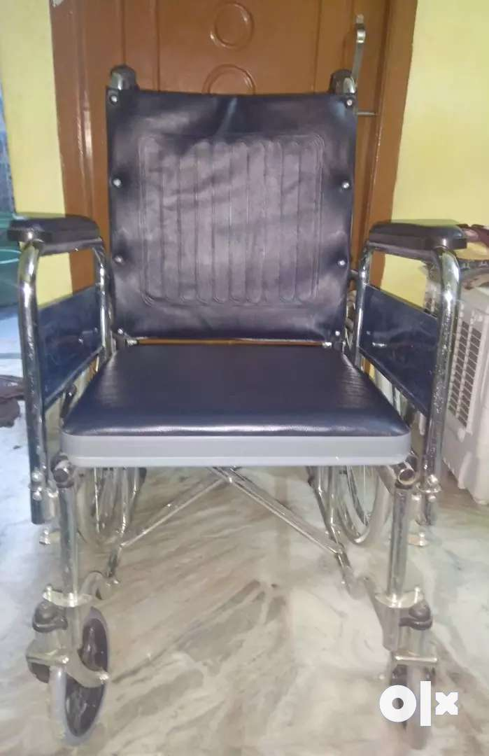JSB W02 Folding Patient Wheelchair with Commode Facility 0