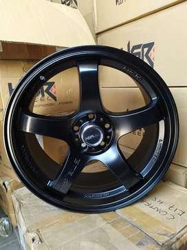menjual velg GTR SPORT JD85125 HSR R17X75 H5X100 ET35 BLACK
