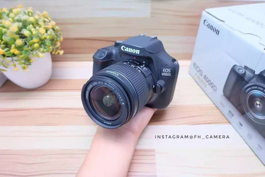 DSLR CANON 4000D lensa 18-55 ii fullset likenew murmer 0