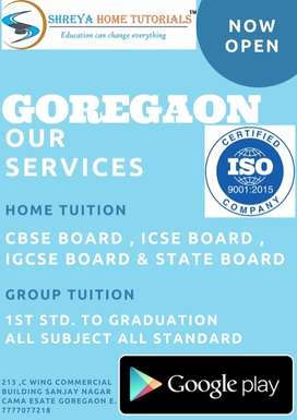 Tutor required in Goregaon for primary and secondary section