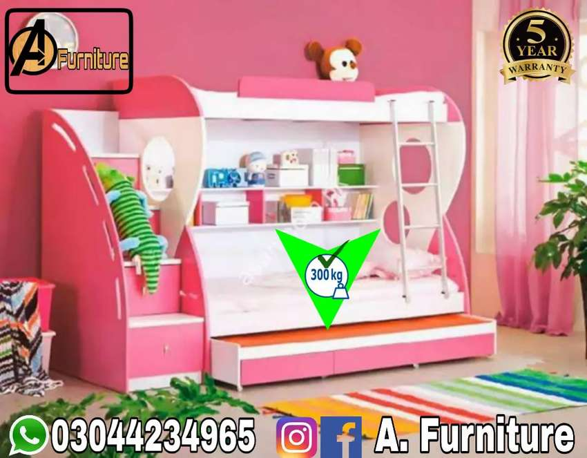 All New Check Out-Triple Bunk Bed 0