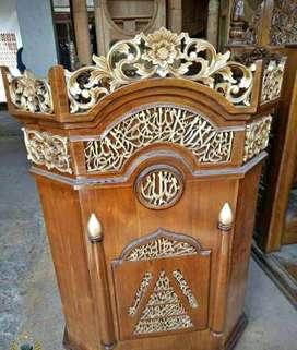 mimbar jati masjid podium