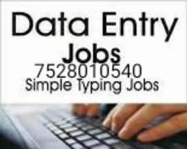 Work from home based online data entry job note this