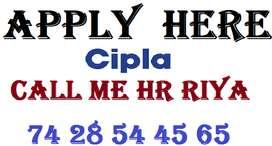 CIPLA COMPANY URGENT HIRING FOR STORE KEEPER , HELPER , SUPERVISOR