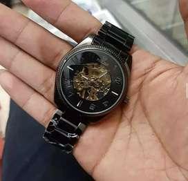 Jam tangan rolex automatic warna hitam elegant keren