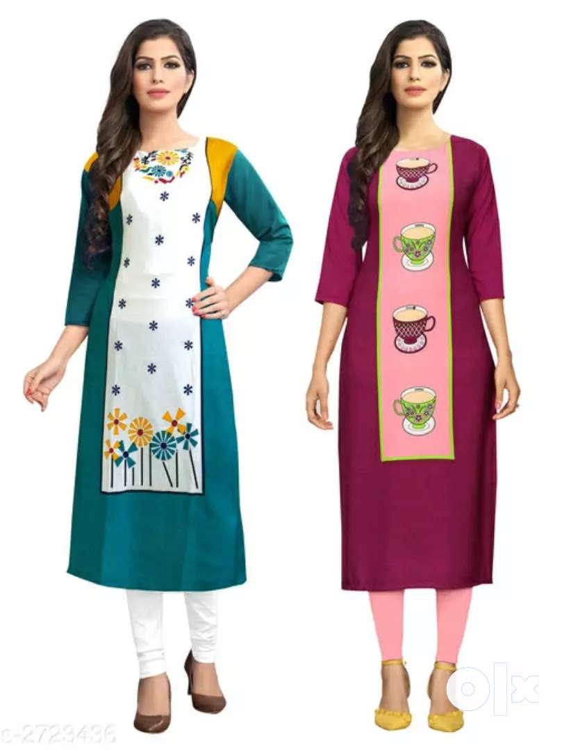 Women's stylish kurti (pack of 2 piece) 0