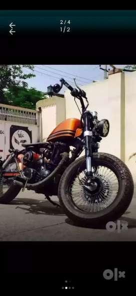 Bullet modified into harley