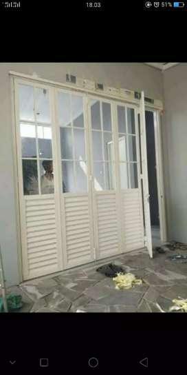 pintu lipat - elegan alumunium ready stock warna bisa dipesan