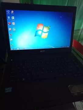 Jual laptop Acer Travel mate 4750core i3, ram 1 GB
