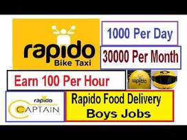 Looking food delivery boys for rapido