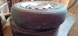 Tyre with rim