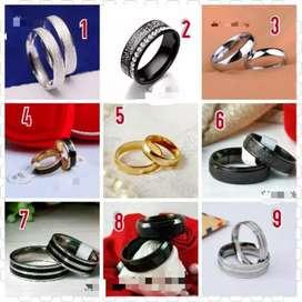 Cincin titanium anti pudar cincin halal pria wanita nikah