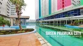 JUAL MURAH APARTEMEN GREEN PRAMUKA TIPE 2KAMAR FUL FURNIS JAKARTA