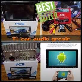 canggih Mumer dvd 2din android link merk PCA+camera hd harga grosir