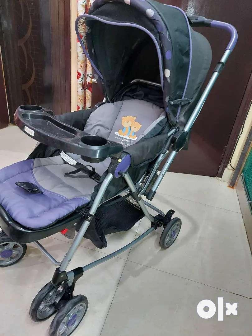 3 in 1 Branded Baby Pram/Stroller/Rocker+ Rotating Wheels_Safety Lock