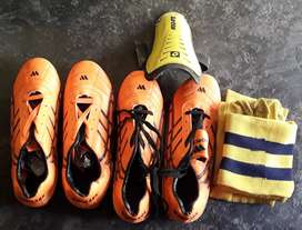 Football boots, socks, singuards