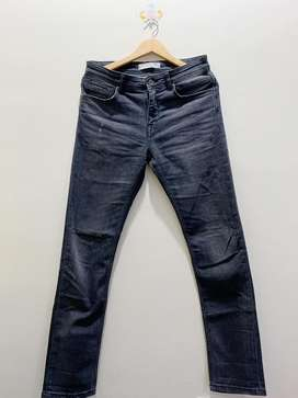 Celana Zara Panjang Jeans Hitam