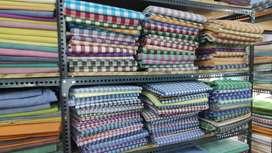 Cotton shirt fabric
