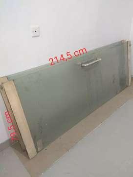 Pintu kaca polos 12 mm