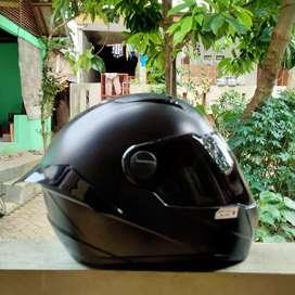 Helm Zeus 811 Full Black Doff Mulus