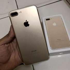 Iphone 7 Plus Gold 128gb Like New Mulus Normal Fullset Original Murah
