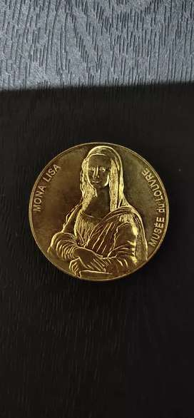 Mona Lisa Gold Plated Coin