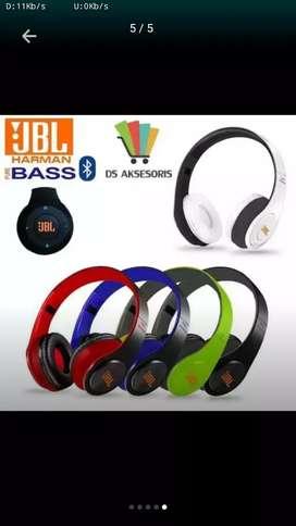 Headphone JBL bluetooth radio bass mantul