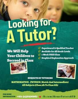 Home tutors Available for Maths and Physics