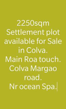 Main road plot near Ocean spa, Colva margao roaf