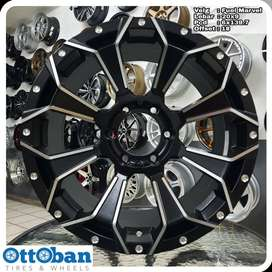 Velg Everest Fortuner Pajero Triton Marvel R20X9 hole 6x139.7 ET 18