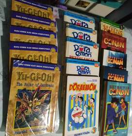 Sale!! Koleksi buku komik Doraemon, Yu Gi Oh, Detective Conan