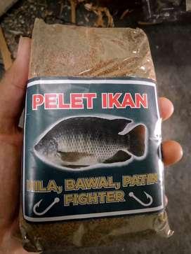 Umpan pancing pelet goreng dominan ikan NILA ( patin, bawal juga bisa)