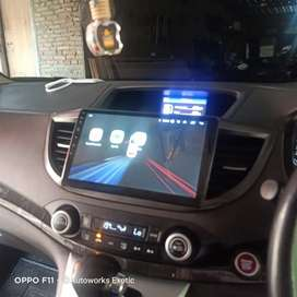Head unit android crv orca 10inc plus frame canbus
