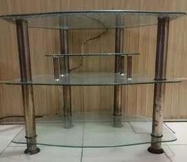 Tv Trolley, Led table, Glass table,
