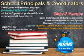 Lady Principal Required in Malir Campus