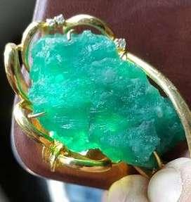 Natural Emerald / Batu Zamrud / Jamrud Uncut 83Crt
