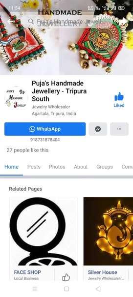 Handmade jewellery বিক্রি করি Belonia, Tripura তে। (Only for females)