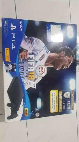PS4 (playstation) fifa 18 bundle  jet black 500 gb jual cepat