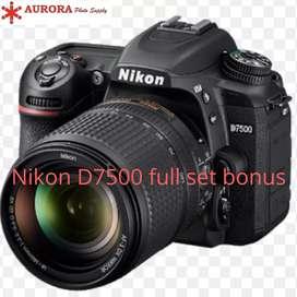 Nikon d7500 kit 18-55mm full set bonus