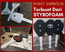 3D kunci simbolis Styrofoam