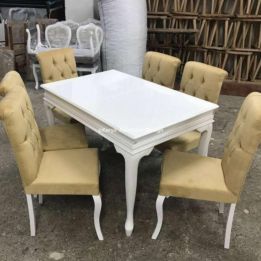 set kursi meja makan shabby minimalis mpb18495 0