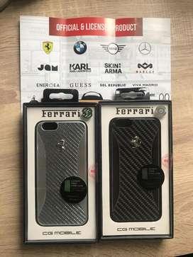 Case / casing iphone 6 / 6s Ferrari Carbon Fiber Original Lisensi